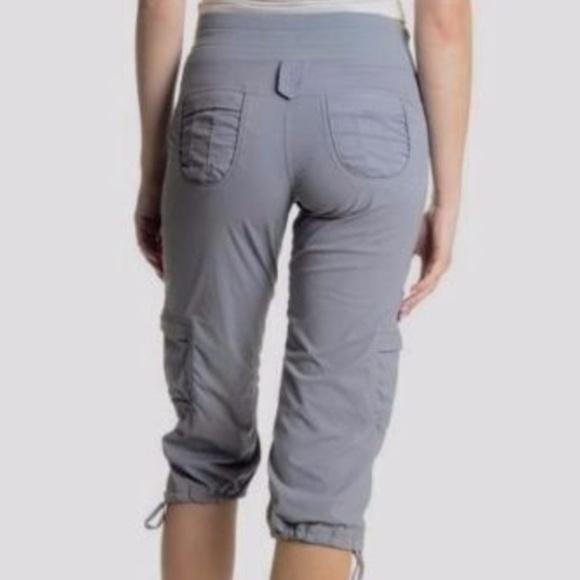 6ff817f6dd lululemon athletica Pants - Lululemon Gray Crop Cargo Capri Dance Studio  Pants